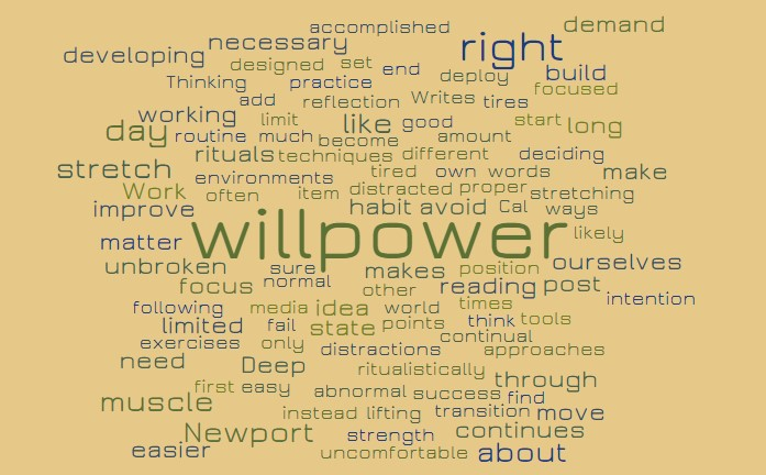 Developing Willpower Muscles