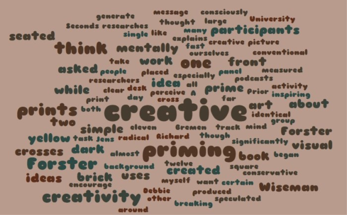 Creativity and our environment
