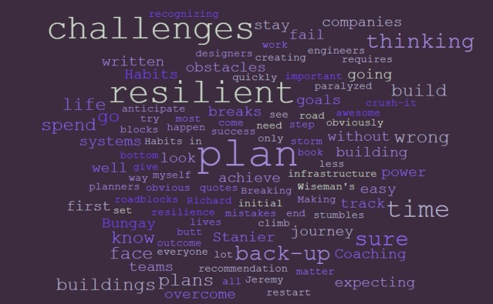 Plan To Be Resilient