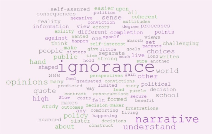 Ignore Our Ignorance