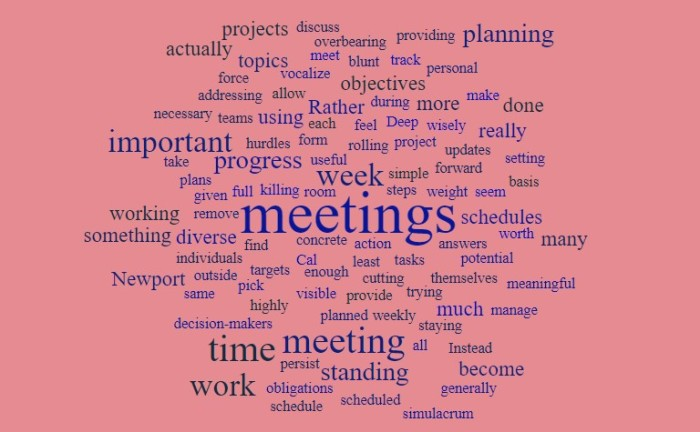Don't let standing meetings become too much