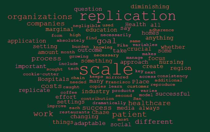 Scale versus replication