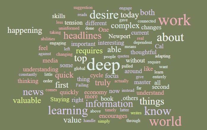 The First Value of Deep Work