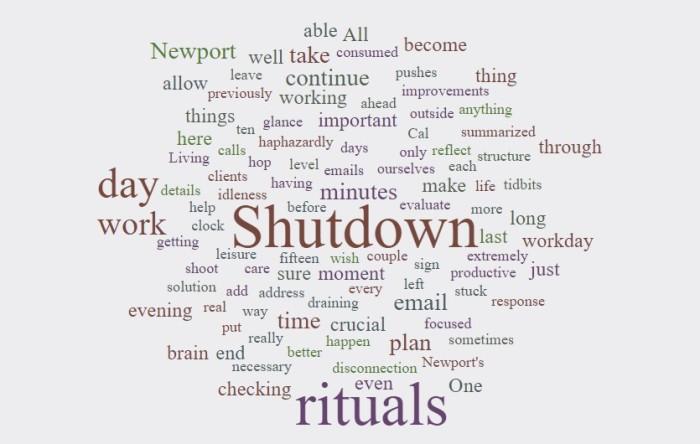 Shutdown Rituals