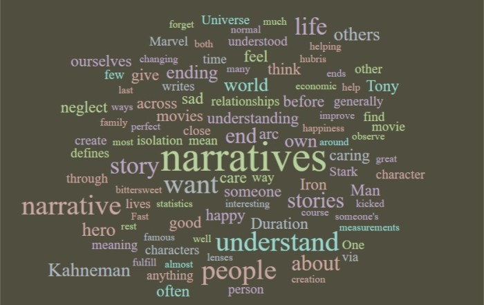 We Care About Narratives