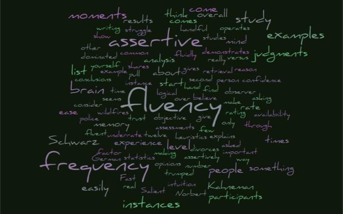Fluency Versus Frequency