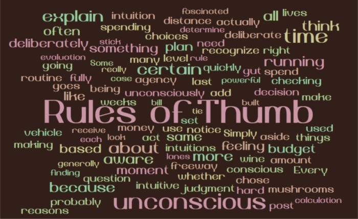 Unconscious Rules of Thumb