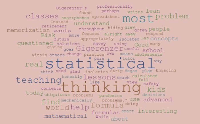Teaching Statistical Thinking