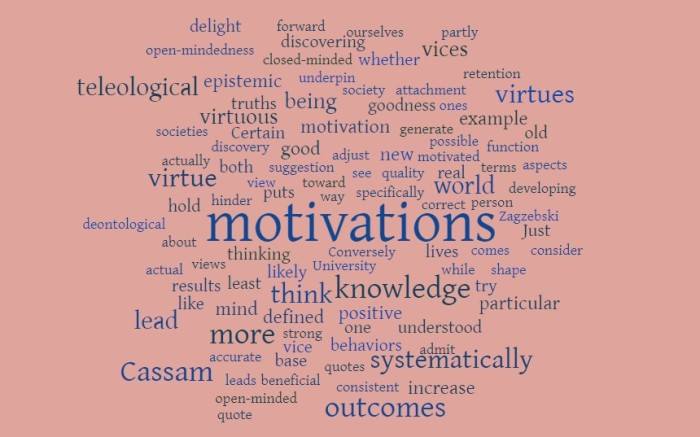 Motivations, Virtues, & Vices