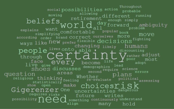 The Human Need for Certainty - Joe Abittan
