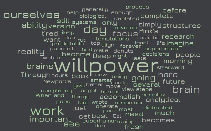 Willpower maximization