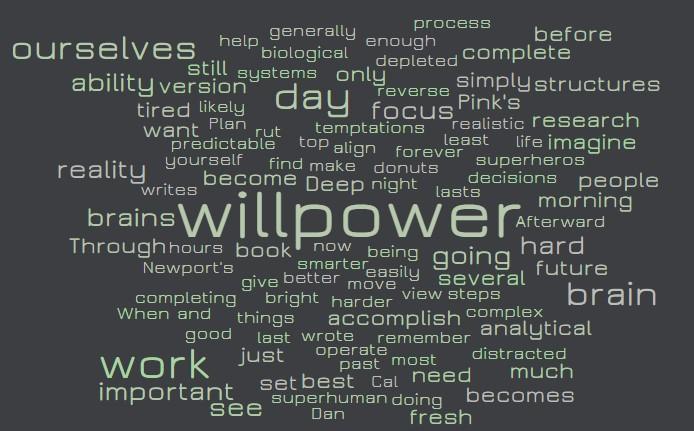 Willpower maximization