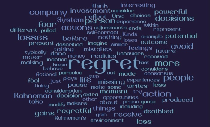 Daniel Kahneman on Regret