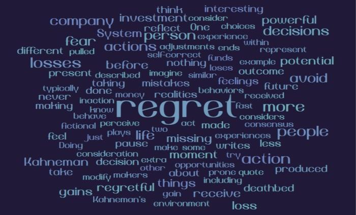 Daniel Kahneman on Regret