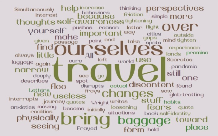 On Travel as a Cure for Discontent - Joe Abittan