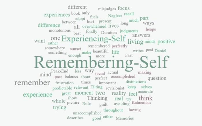 Experiencing Versus Remembering