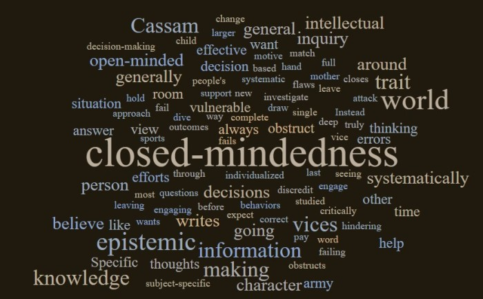 More About Closed-Mindedness