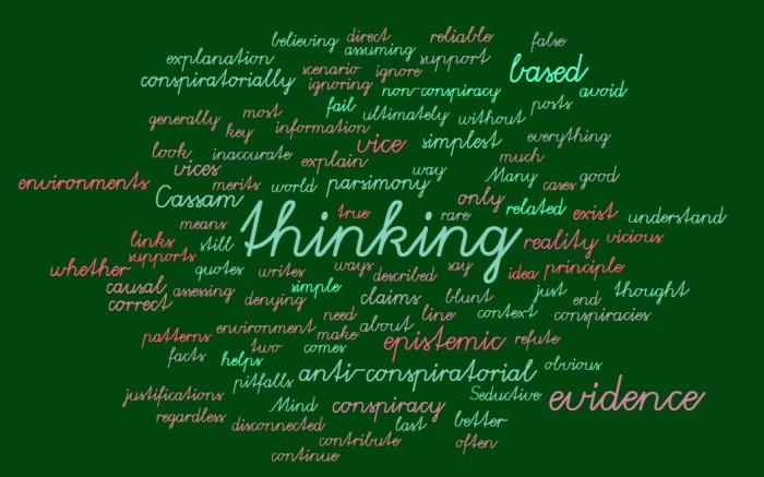 Thinking Conspiratorially Versus Evidence-Based Thinking - Joe Abittan