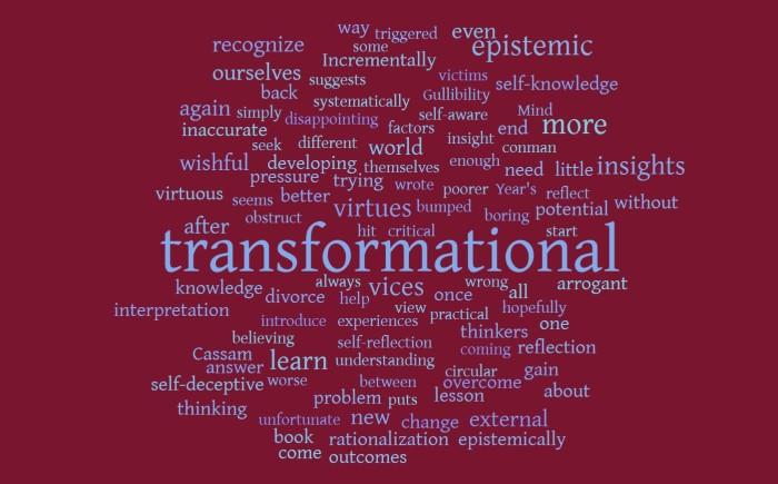 Transformational Insights - Joe Abittan - Vices of the Mind - Quassim Cassam