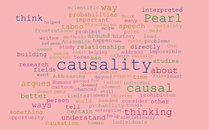 Talking About Causation - Judea Pearl - The Book of Why - Joe Abittan