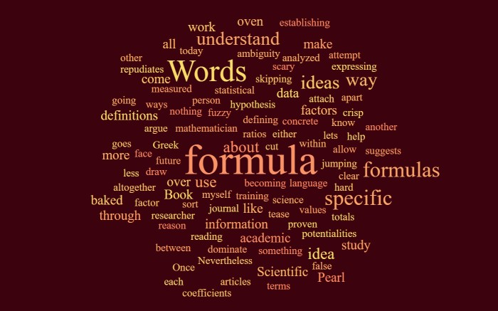 Words and Formulas