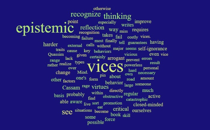 Epistemic Vices & Self-Reflection