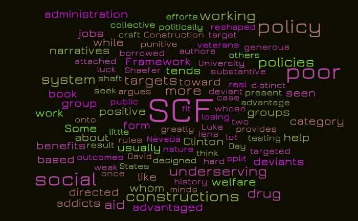 Social Construction Framework and the Working Poor