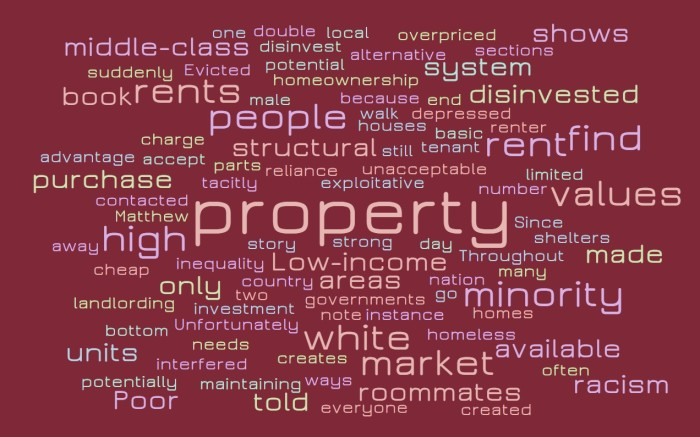 Cheap Houses, High Rents