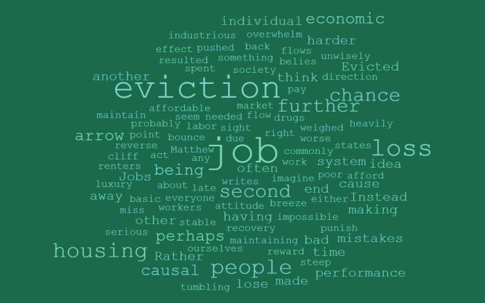 Eviction and Job Loss