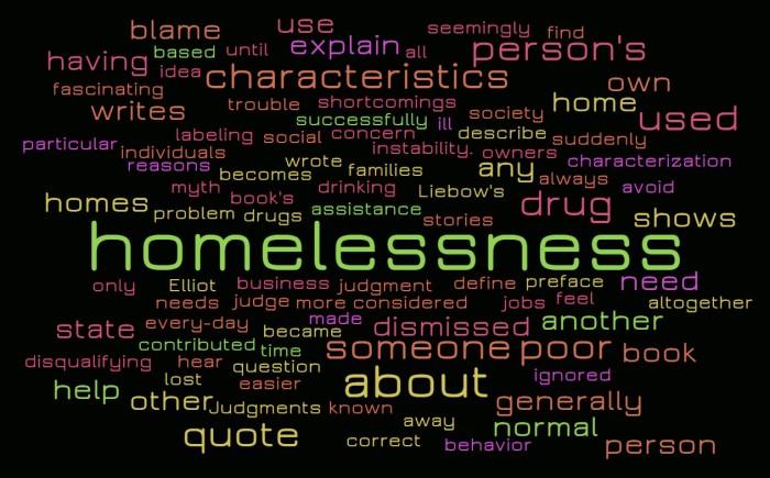 Judging, or Explaining, the Homeless