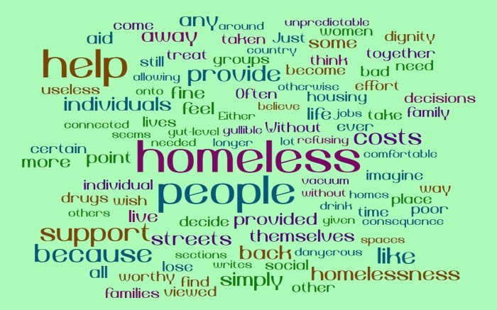 Homelessness, Temporary Assistance, and Social Costs