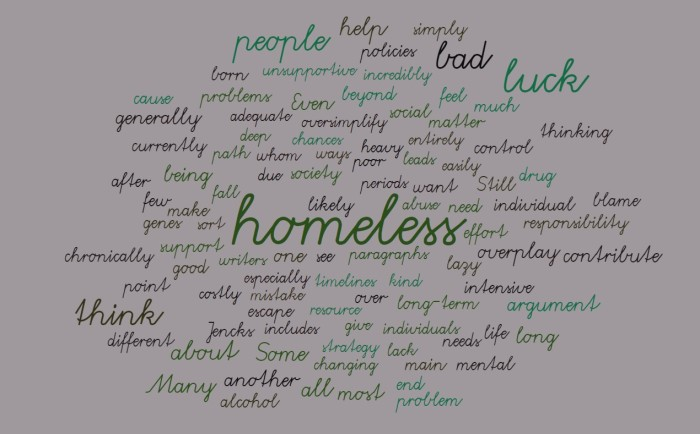 Bad Luck, Homelessness, and My Writing