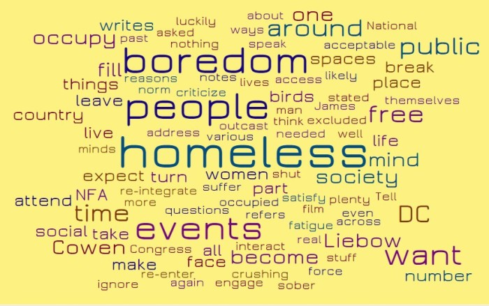 Homeless Boredom