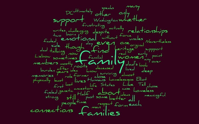 The Emotional Support of Family