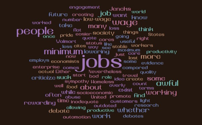 Minimum Wage and Jobs Worth Doing
