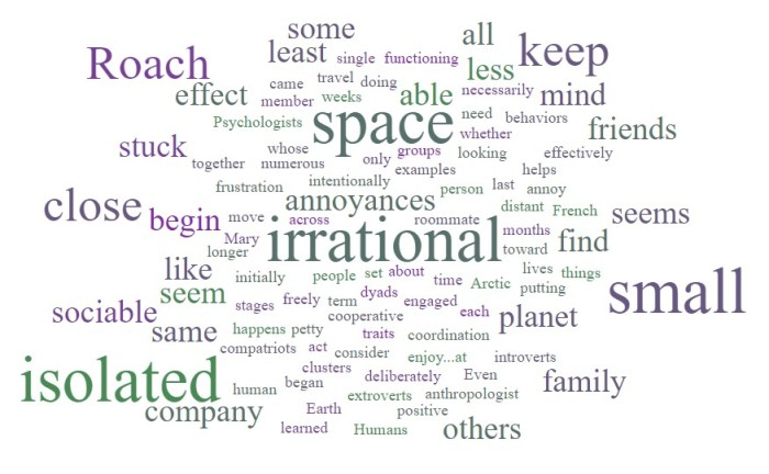 Irrational Antagonism - Mary Roach - Packing for Mars