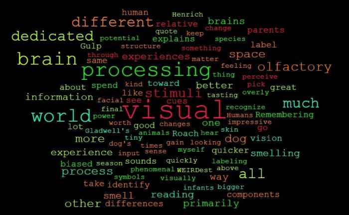 Visual Versus Olfactory