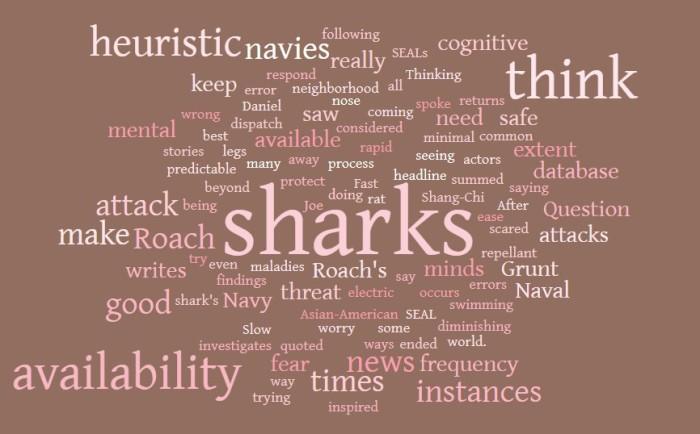 Sharks, The Navy, & The Availability Heuristic